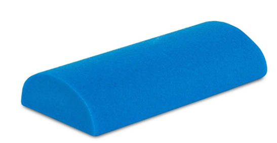 half round foam roller to stretch ligaments